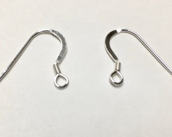 5 pairs Sterling Silver French Hook Earwires 14mm F235B