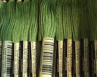 DMC 3347 Medium Yellow Green Embroidery Floss 2 Skeins 6 Strand Thread for Embroidery Cross Stitch Needlepoint Sewing Beading