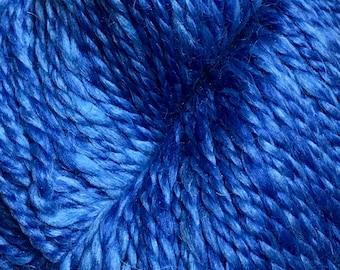 Araucania Lujoso Baby Alpaca Fine Merino Wool Mulberry Silk Worsted Weight Yarn Color 12 Sapphire 164 yards