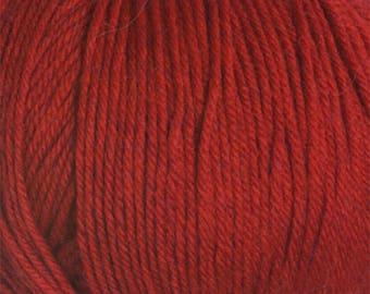 Clearance Christmas Red 220 Superwash Yarn 220 yards 100% SuperWash Wool color 1922