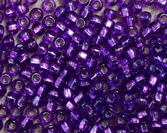 120 80 60 Violet Clear Czech Seed Beads 2mm 3mm 4mm Violet Transparent Seed Beads Violet Clear Rocailles