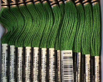 DMC 905 Dark Parrot Green Embroidery Floss 2 Skeins 6 Strand Thread for Embroidery Cross Stitch Needlepoint Sewing Beading