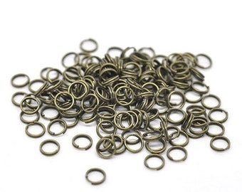 CYBER SALE 100 Split Rings Antique Bronze Plated 6mm Key Rings Jewelry Connectors F106