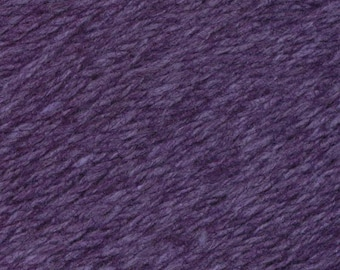 Passion Flower Purple United Lambswool Cotton by Queensland Collection Sport Weight Certified Organic 251 yards
