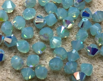 Pacific Opal AB 5328 Bicone Swarovski Crystal Beads 4mm 24 beads