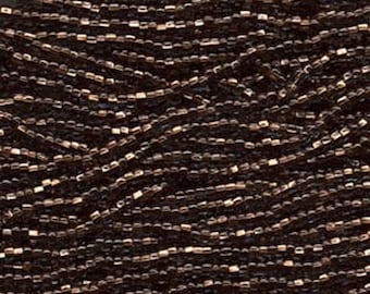 11/0 Black Diamond Copper Lined Genuine Czech Glass Preciosa Rocaille Seed Beads 19 grams