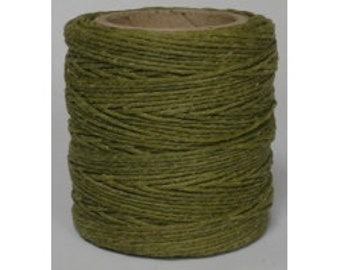 "Waxed Polyester Cord Olive Green Maine Thread .040"" 1mm cord Waxed Cord Bracelets Wrap Bracelets Made in the USA One Spool 70 yards"