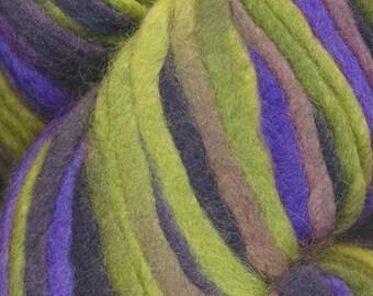 Fitz Roy Araucania Super Bulky Yarn Chartreuse Purple Mauve 88 yards 100% Wool Color 109