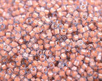 11/0 Miyuki Delica Luminous Sea Coral Glass Seed Cylinder Beads 7.2 grams DB2042