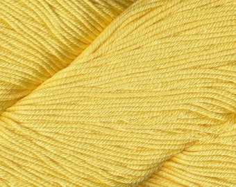 Egyptian Cotton Phoenix DK Ella Rae Yarn DK Weight 273 yards 100% Egyptian Cotton Yarn #1048 Lemon Yellow