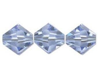 Light Sapphire Blue 5328 4mm Bicone Swarovski Crystal Beads 4mm 48 beads