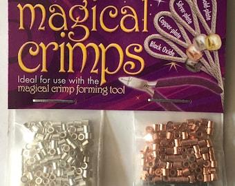 Crimp Tubes 2x2mm Magical Crimps Assortment Silver Plate Gold Plate Copper Plate Black Oxide 125 of each color 500 pcs