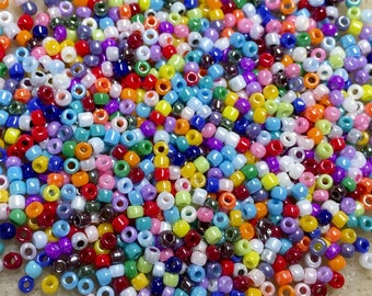 11/0 Luster Multi Color Opaque Mix Japanese Seed Beads 6 Inch Tube 28 grams