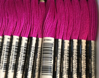 DMC 718 Plum Embroidery Floss 2 Skeins 6 Strand Thread for Embroidery Cross Stitch Needlepoint Sewing Beading