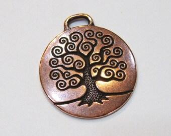 1 TierraCast Antique Copper Tree of Life Pendants 26.5mm x 23.5mm  F563E