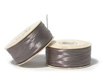 Nymo Beading Thread Grey Size D 64 yards 1 Spool Gray Thread