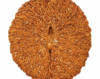Lana Gatto Santorini Orange DK Weight Yarn Viscose Polyester 207 yards color #8613