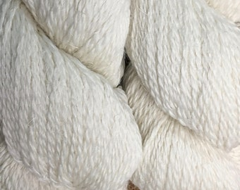New Eco Hemp 80 Percent Peruvian Highland Wool and 20 Percent Hemp Yarn by Cascade DK Weight Ecru Color 03