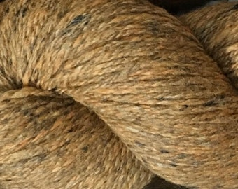 Tobacco Light Brown Kathmandu DK 100 by Queensland Collection Merino Wool Silk Cashmere Tweed 295 yards DK Weight