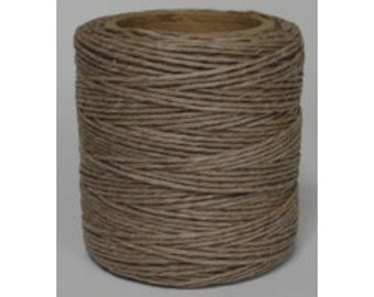 "Waxed Polyester Cord Mocha Maine Thread .040"" 1mm cord Waxed Cord Bracelets Wrap Bracelets Made in the USA One Spool 70 yards"