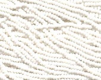 8/0 Chalk White Opaque Genuine Czech Glass Preciosa Rocaille Seed Beads 38 grams