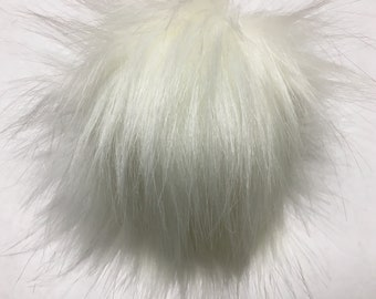 Extra Large Imitation Fur Faux Fur Pom Pom Ball with Snap for Craft Projects Hat Decoration Knitting Crochet 150mm 6 inches