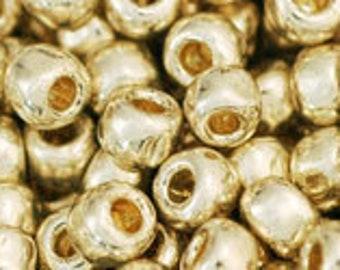 6/0 Perma Finish Galvanized Aluminum Toho Glass Seed Beads 2.5 inch tube 10 grams TR-06-PF558