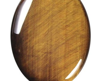 Tiger Eye 30x40mm Gemstone Oval One Bead