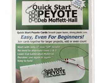 Quick Start Peyote by Deb Moffett-Hall, For Flat Peyote Stitch for Size 8 Seed Beads