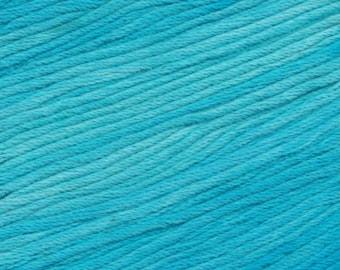 Tahiti Sky Ella Rae Sun Kissed yarn DK Weight 262 yards Aqua Blue 100% Cotton Yarn Color 06