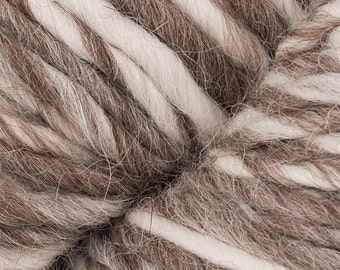 Yarn Alpaca Wool Eco Duo Caramel Cream Color Yarn 197 yards Worsted Weight Alpaca Merino Wool Blend Color 1711