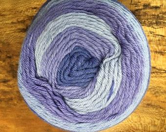 NEW Iris Shades of Purple Cascade Whirligig Yarn Cake Merino Wool Acrylic Nylon  546 yards