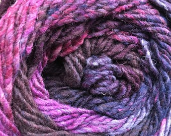 Melilla Silk Wool Nylon Yarn Plum colors of pink and purple 220 yards Worsted Weight Color 14