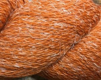 New Eco Hemp 80 Percent Peruvian Highland Wool and 20 Percent Hemp Yarn by Cascade DK Weight Burnt Orange Color 17