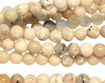 White African Opal 6mm Gemstone Rounds Approx 33 beads 8 Inch strand