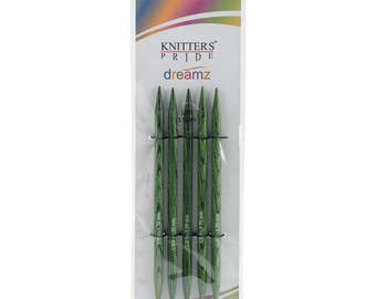 Size 9 Knitters Pride Dreamz Birch Wood Knitting Double Point Needles 5 inch Long Set of 5 needles 5.5mm