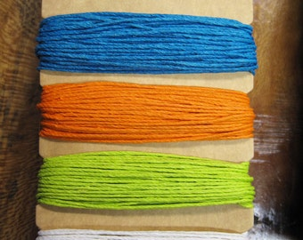 Clearance Bright Colors Hemp Cord for Macrame Jewelry Making 4 colors 29.8 ft each