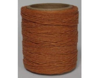 "Waxed Polyester Cord Orange Maine Thread .040"" 1mm cord Waxed Cord Bracelets Wrap Bracelets Made in the USA One Spool 70 yards"