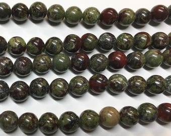 Dragon Blood Jasper 8mm Gemstone Rounds Approx 25 beads 8 Inch strand