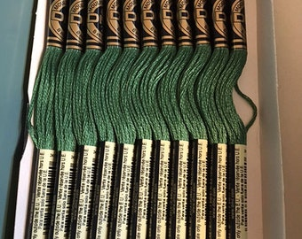 DMC 367 Dark Pistachio Green Embroidery Floss 2 Skeins 6 Strand Thread for Embroidery Cross Stitch Needlepoint Sewing Beading