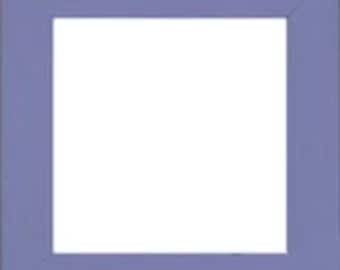 """Frame Mill Hill Matte Periwinkle Blue Solid Color Hand Painted Wooden Frame 6"""" x 6"""" GBFRM8"""