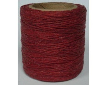 "Waxed Polyester Cord Scarlet Red Maine Thread .040"" 1mm cord Waxed Cord Bracelets Wrap Bracelets Made in the USA One Spool 70 yards"