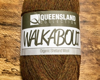 Cinnamon Walkabout Organic Shetland Wool by Queensland Collection Sport Weight Certified Organic 157 yards Color 13