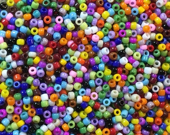 11/0 Opaque Multi Color Mix Japanese Seed Beads 6 Inch Tube 28 grams