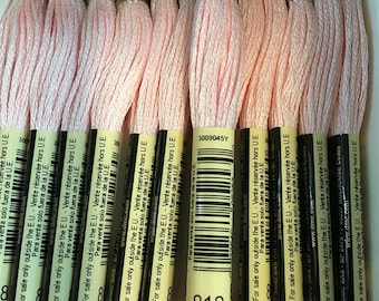 DMC 818 Baby Pink Embroidery Floss 2 Skeins 6 Strand Thread for Embroidery Cross Stitch Needlepoint Sewing Beading