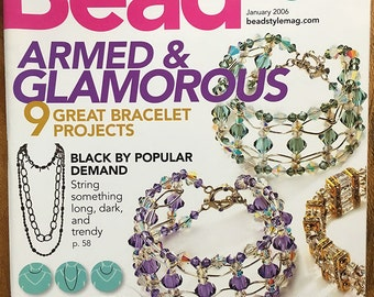 Bead Style Magazine Hottest Styles Bracelet Projects Wedding Bliss Crystal Cuffs Trendy Necklaces January 2006