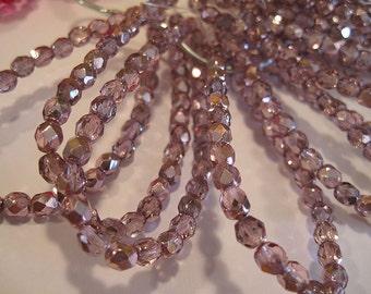 Crystals 6mm Flamingo Metallic Ice Czech Glass Fire polished Crystal Beads