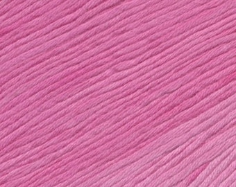 Flamingo Island Ella Rae Sun Kissed yarn DK Weight 262 yards Pink 100% Cotton Yarn Color 04