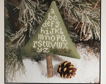 Christmas Tree Alphabet Ornament Mini Cross Stitch Sampler Pattern The Prairie Schooler