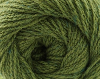 Aegean Tweed Pesto Green by Cascade Organic Wool Tweed Yarn Rustic Look Yarn 328 yards DK Weight Color 11
